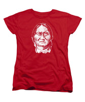 Sitting Bull Graphic - Black And White - Women's T-Shirt (Standard Fit)