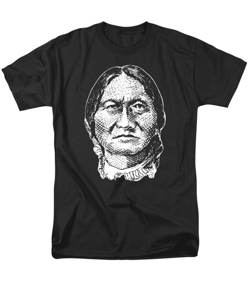 Sitting Bull Graphic - Black And White - Men's T-Shirt  (Regular Fit)