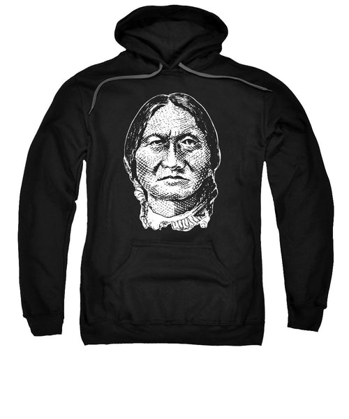 Sitting Bull Graphic - Black And White - Sweatshirt