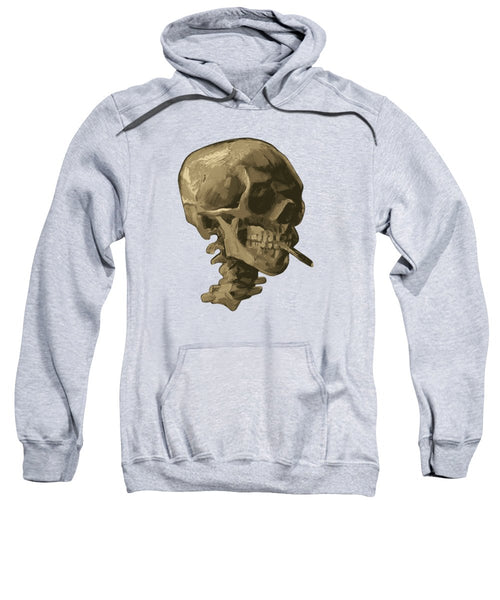 Skull Of A Skeleton With Burning Cigarette - Vincent Van Gogh - Sweatshirt