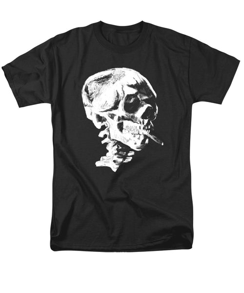 Skull Smoking A Cigarette - Men's T-Shirt  (Regular Fit)