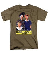 Soldiers Without Guns - Women War Workers - WW2  - Men's T-Shirt  (Regular Fit)