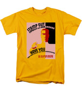 Stamp Out Syphilis And Gonorrhea - Men's T-Shirt  (Regular Fit)