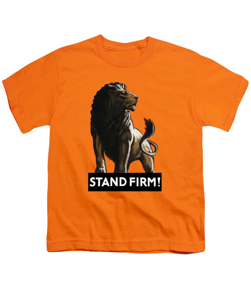 Stand Firm Lion - WW2 - Youth T-Shirt