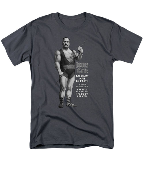 Strongest Man On Earth - Vintage Strongman - Men's T-Shirt  (Regular Fit)