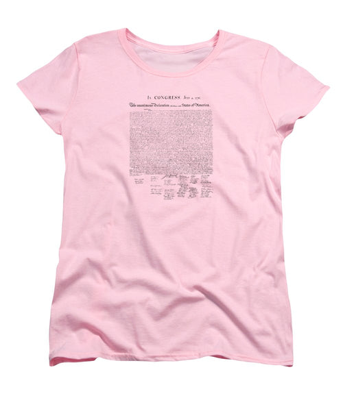 The Declaration Of Independence - Women's T-Shirt (Standard Fit)