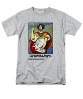 The Sword Is Drawn - The Navy Upholds It - Men's T-Shirt  (Regular Fit)