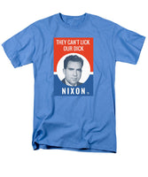 They Can't Lick Our Dick - Nixon '72 Election Poster - Men's T-Shirt  (Regular Fit)