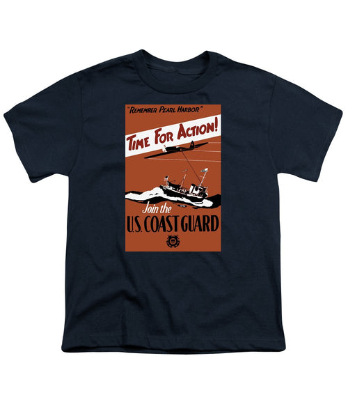 Time For Action - Join The US Coast Guard - Youth T-Shirt