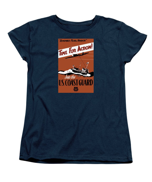 Time For Action - Join The US Coast Guard - Women's T-Shirt (Standard Fit)