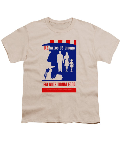 Uncle Sam - Eat Nutritional Food - Youth T-Shirt
