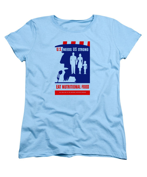 Uncle Sam - Eat Nutritional Food - Women's T-Shirt (Standard Fit)