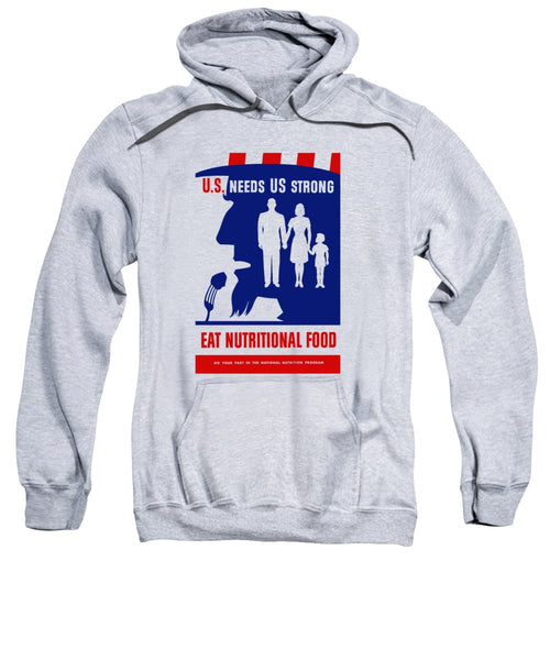 Uncle Sam - Eat Nutritional Food - Sweatshirt