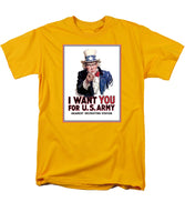 Uncle Sam -- I Want You - Men's T-Shirt  (Regular Fit)