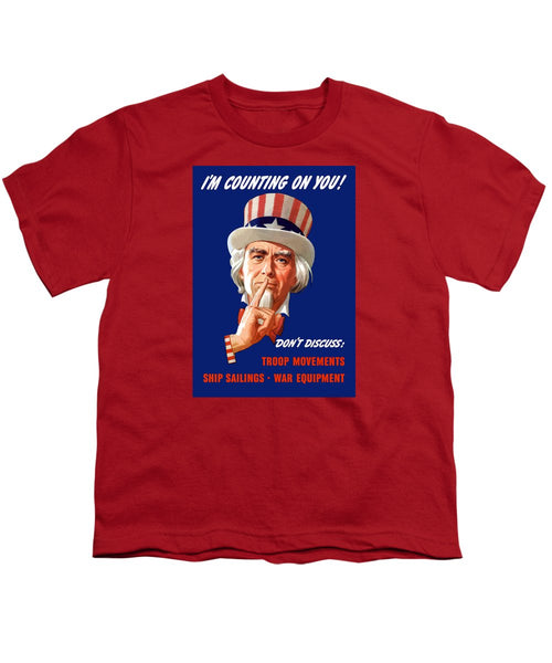 Uncle Sam - I'm Counting On You - Youth T-Shirt