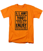 US Army Wants You - WW1 Recruiting - Men's T-Shirt  (Regular Fit)