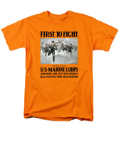 US Marine Corps - First To Fight - Men's T-Shirt  (Regular Fit)