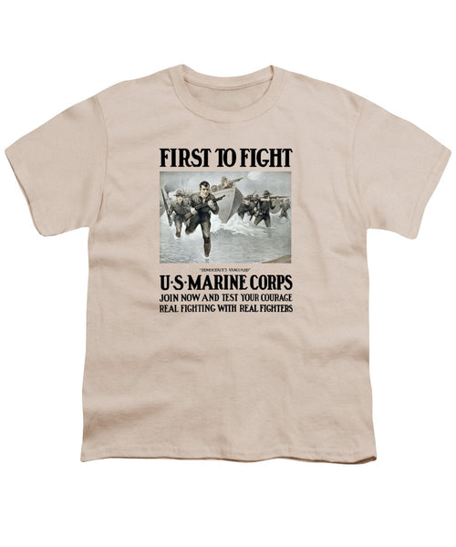 US Marine Corps - First To Fight  - Youth T-Shirt