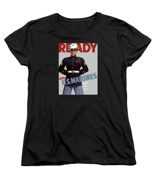 US Marines - Ready - Vintage Recruiting Women's T-Shirt (Standard Fit)