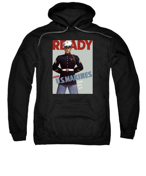 US Marines - Ready - Vintage Recruiting Sweatshirt