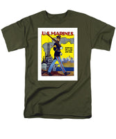 U.S. Marines - Service On Land And Sea - Men's T-Shirt  (Regular Fit)