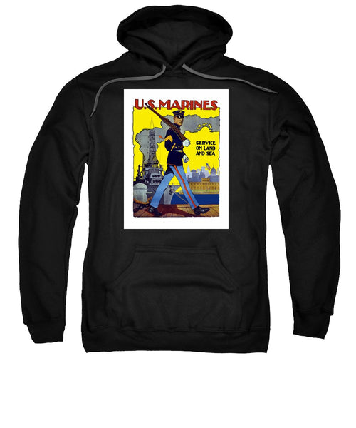 U.S. Marines - Service On Land And Sea - Sweatshirt