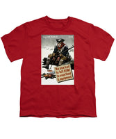 Valley Forge Soldier - WWII Conservation Propaganda - Youth T-Shirt