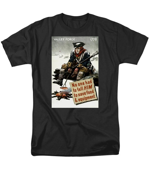 Valley Forge Soldier - WWII Conservation Propaganda - Men's T-Shirt  (Regular Fit)