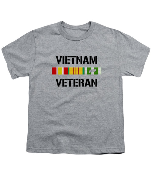Vietnam Veteran Ribbon Bar - Two - Youth T-Shirt