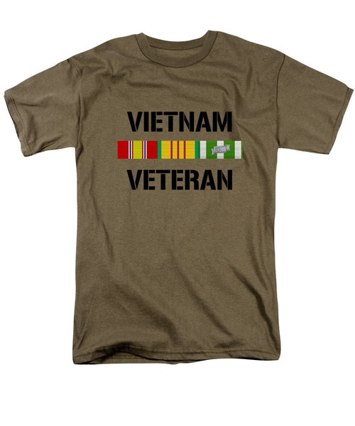 Vietnam Veteran Ribbon Bar - Two - Men's T-Shirt  (Regular Fit)