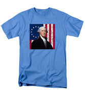 Washington And The American Flag - Men's T-Shirt  (Regular Fit)