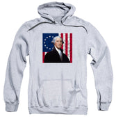 Washington And The American Flag - Sweatshirt