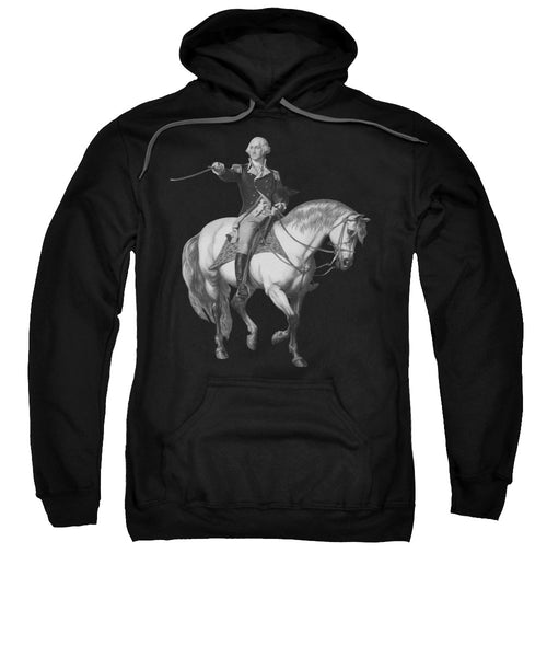 Washington Receiving A Salute At Trenton - Sweatshirt