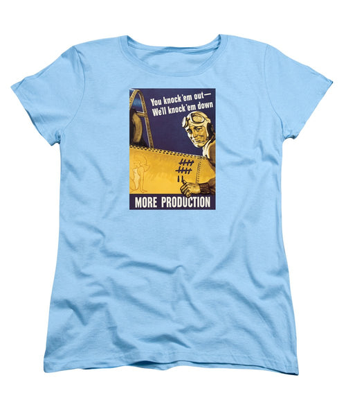 We'll Knock 'em Down - WW2 Propaganda - Women's T-Shirt (Standard Fit)