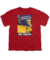 We'll Knock 'em Down - WW2 Propaganda - Youth T-Shirt