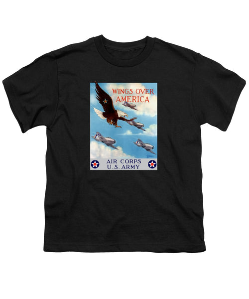 Wings Over America - Air Corps U.S. Army - Youth T-Shirt
