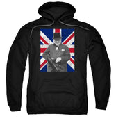 Winston Churchill And Flag - Sweatshirt