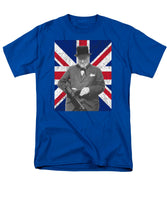 Winston Churchill And Flag - Men's T-Shirt  (Regular Fit)