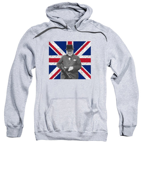 Winston Churchill And His Flag - Sweatshirt