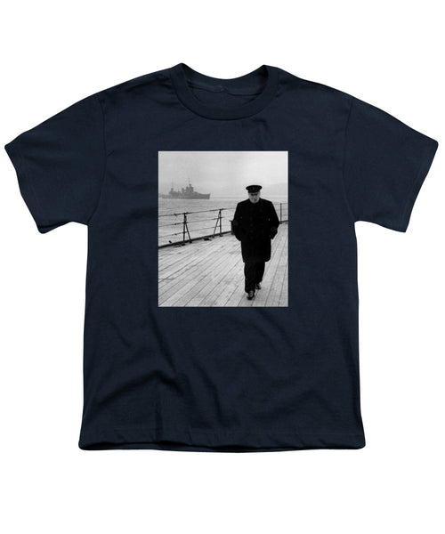 Winston Churchill At Sea - Youth T-Shirt