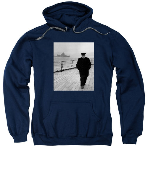 Winston Churchill At Sea - Sweatshirt