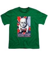 Winston Churchill - Holding The Line - Youth T-Shirt