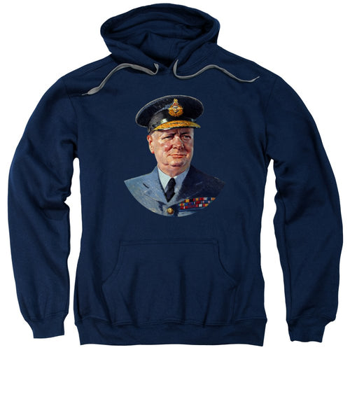 Winston Churchill In Uniform - Sweatshirt