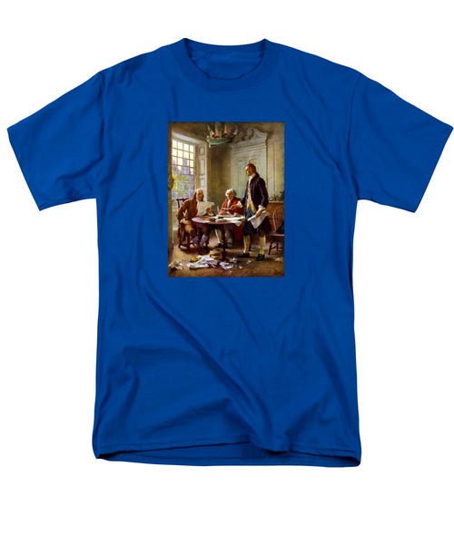 Writing The Declaration Of Independence - Men's T-Shirt  (Regular Fit)