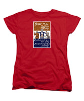 Your War Savings Pledge - WWI Propaganda Women's T-Shirt (Standard Fit)