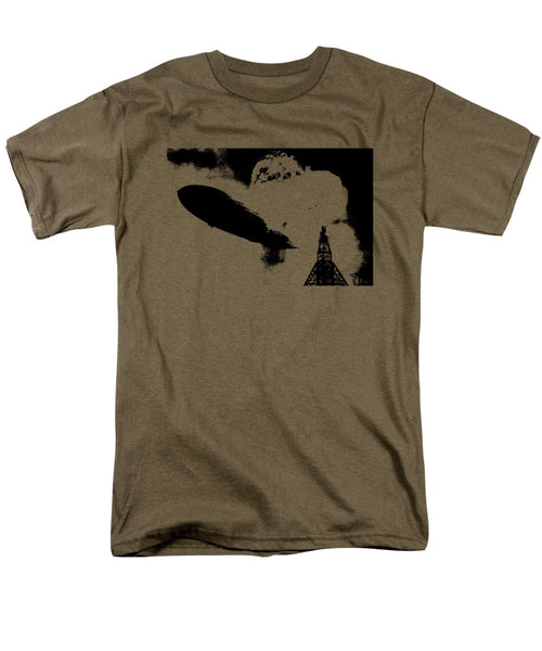 Zeppelin Hindenburg Explosion Graphic - Men's T-Shirt  (Regular Fit)