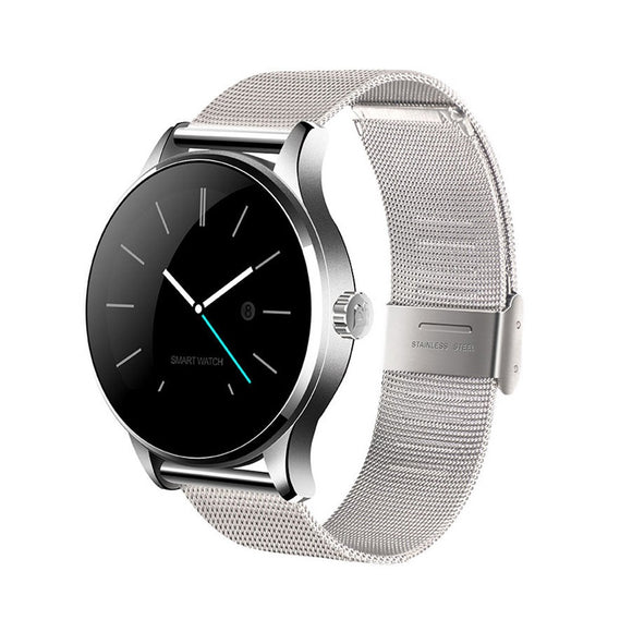 MTK-K88H Clasic Smart Watch Android IOS / Phone Metal Strap