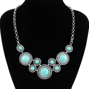 Blue Stone Bohemian necklace