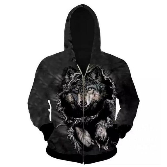 Fashion 3D Wolf Hoodies