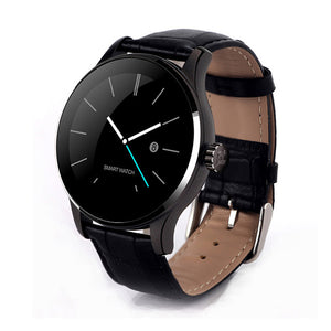 MTK-K88H Classic Smart Watch For Android IOS Leather Strap